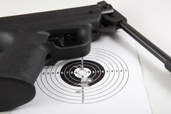 Sport target and gun Royalty Free Stock Image