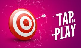 Sport target win concept. Business success symbol. Play dart game illustration design stock illustration