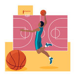 Sport Team Concept Icon Flat Design de basket-ball Image stock