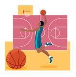 Sport Team Concept Icon Flat Design di pallacanestro Immagine Stock