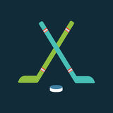Sport team hockey badge vector illustration isolated team emblem symbol design sign icon label tournament competition Royalty Free Stock Photography