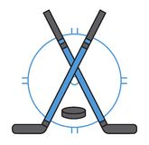 Sport team hockey badge vector. Stock Images