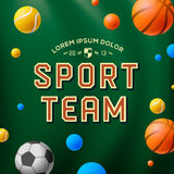 Sport team template, poster, flyer Stock Image