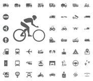 Sport, Technologie, Medien, Multidepartment Thema Gesetzte Ikonen des Transportes und der Logistik Gesetzte Ikonen des Transporte Lizenzfreie Stockfotos