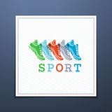 Sport template. Stock Photo