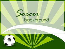 Sport template with soccer ball Royalty Free Stock Images