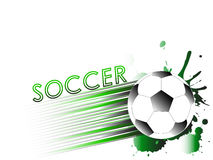 Sport template with soccer, football ball Stock Photography