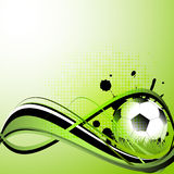Sport template with soccer, football ball Stock Photo