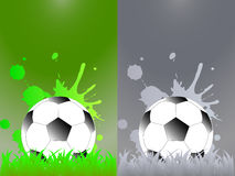 Sport template with soccer, football ball Stock Image