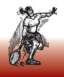 Sport tennis. Hand drawn illustration of tennis - sport theme vector illustration