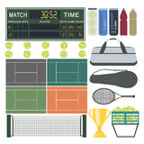 Sport-Tennis-Ausrüstung stock abbildung