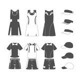 Sport-Tennis-Uniform Stock Photos