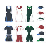 Sport-Tennis-uniforme Fotografie Stock