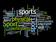 Sport text clouds Royalty Free Stock Photos