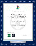 Sport theme certificate of participation template  Stock Image