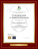 Sport theme certificate of participation template  Stock Images