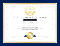 Sport theme certification of excellence template  Stock Photo