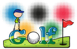 Sport theme with golf Royalty Free Stock Images