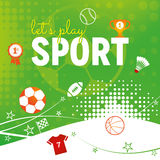 Sport Themed Abstract Design Royalty Free Stock Image