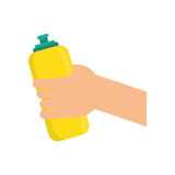 Sport thermo bottle Royalty Free Stock Photos