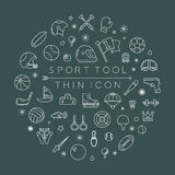 Sport thin icons Stock Image