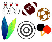 Sport tools. A set of sport icons isolated on a white background Stock Image