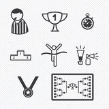 Sport Tournament icons vector illustration. Eps 10 Stock Image