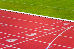 Sport track lanes Stock Photography