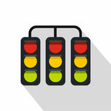 Sport traffic light icon, flat style. Sport traffic light icon. Flat illustration of sport traffic light vector icon for web isolated on white background Royalty Free Stock Image