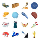 Sport, transport, mine and other web icon in cartoon style.Furniture, holiday,space icons in set collection. Stock Images