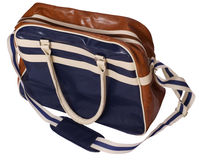Sport or travel bag in retrostyle. Isolated against background Stock Images