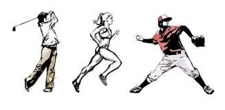 Sport trio Stock Images