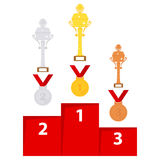 Sport trophies Royalty Free Stock Photos