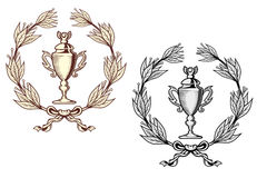 Sport trophy with laurel wreath Royalty Free Stock Image