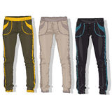Sport trousers / pants set . Royalty Free Stock Photography