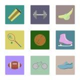 sport två för silhouettes för spelare för bollfotbollsymboler royaltyfri illustrationer