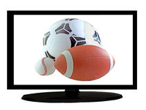 Sport on tv Royalty Free Stock Image