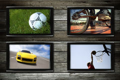 Sport tv Stock Image
