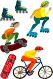 Sport und Ausrüstungsvektorbunte Abbildung Lizenzfreie Stockfotos