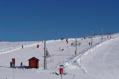 Sport und Erholung im Schnee stockfoto