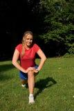 Sport und Frau Stockbild