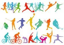 Sport und Freizeit lizenzfreie abbildung