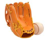 Sport und Freizeit: Baseballhandschuh und Kugel Stockbilder