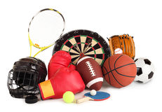 Sport und Spiel-Anordnung Stockbild