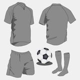 Sport Uniforms. Vector illustration of grey sport uniforms Royalty Free Stock Photos