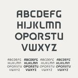 Sport uppercase alphabet. Futuristic technology font. Modern monogram template. Minimalistic vector design typeface. Logo template set. The first letter of the Stock Images