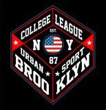 Sport urbain Brooklyn Illustration de Vecteur