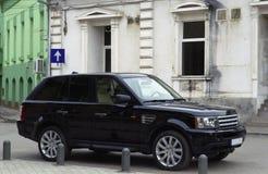 Sport Utility Vehicle. Parked Black Sport Utility Vehicle Royalty Free Stock Images