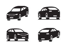 Sport utility vehicle in perspective. Vector illustration Royalty Free Stock Photo