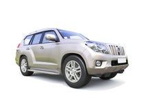 Sport utility vehicle. Suburban utility vehicle (SUV) isolated on white backgrond Royalty Free Stock Photo